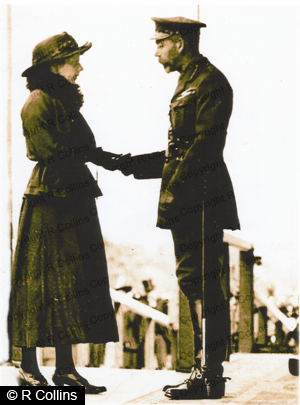 Picture Of Tom Mottershead's Widow accecpting VC