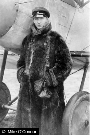 Walter Göttch in his Fokker Triplane.